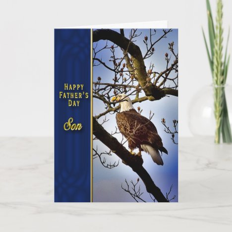 Father's Day Son - Bald Eagle Card