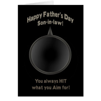 FATHER'S DAY - SON-in-LAW - GUN - AIM Card