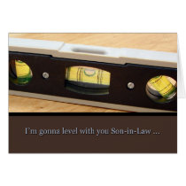 Father's Day, Son in Law, Level With You Card