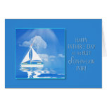 FATHER'S DAY - SON-IN-LAW - SAILBOAT - BLUE SEA CARD