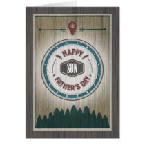 Father's Day Son, Rustic Wilderness Graphics Card