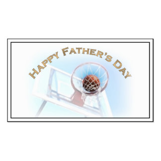 Father's Day Sports Basketball Business Cards