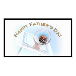 Father's Day Sports Basketball Business Card Template