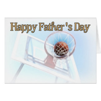 Father's Day Sports Basketball Greeting Card