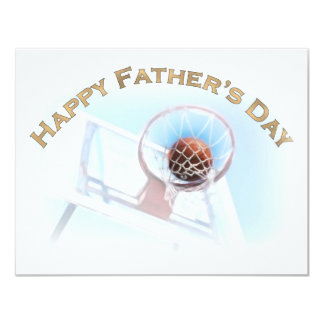 Father's Day Sports Basketball 4.25x5.5 Paper Invitation Card