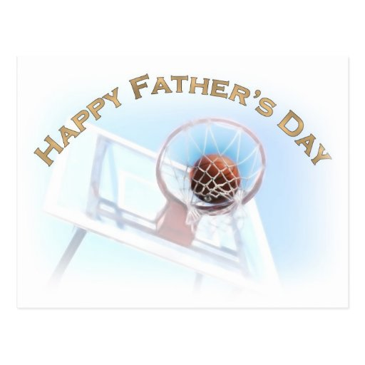 Father's Day Sports Basketball Postcard