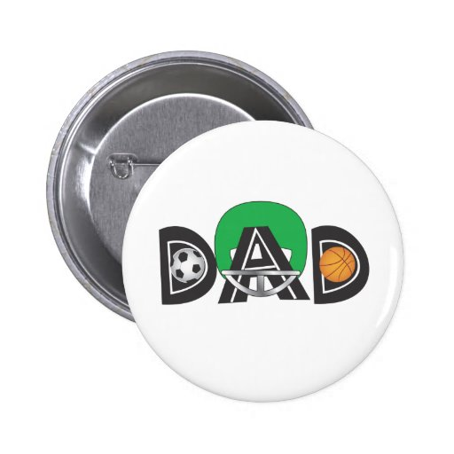 Father's Day Sports Dad Pins
