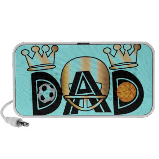 Father's Day Sports Dad PC Speakers