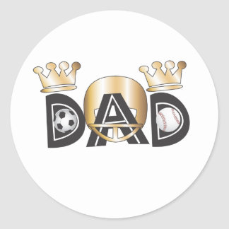 Father's Day Sports Dad Sticker