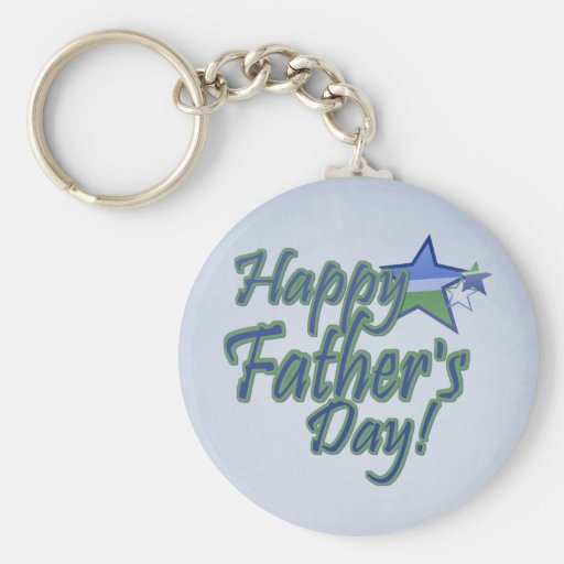 fathers day Star Dad Basic Round Button Keychain
