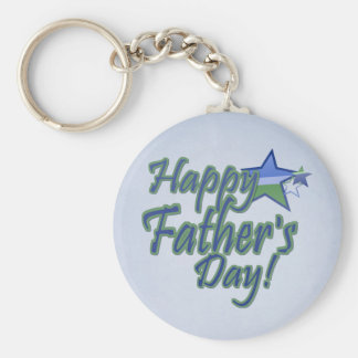 fathers day Star Dad Keychain