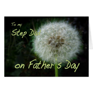 Father's Day Step Dad dandelion wish for Card