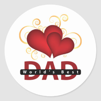 Father's Day Round Stickers