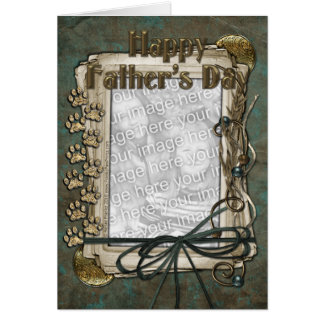 Fathers Day - Stone Paws - ADD YOUR PET PHOTO Card