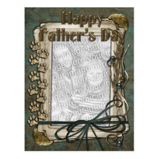Fathers Day - Stone Paws - ADD YOUR PET PHOTO Postcard