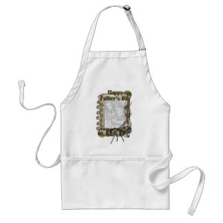 Fathers Day - Stone Paws - ADD YOUR PHOTO - DAD Adult Apron