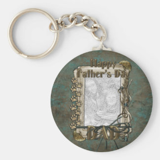 Fathers Day - Stone Paws - ADD YOUR PHOTO - DAD Basic Round Button Keychain