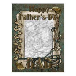 Fathers Day - Stone Paws - ADD YOUR PHOTO - DAD Postcard