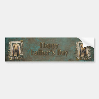 Fathers Day - Stone Paws - Afghan Car Bumper Sticker