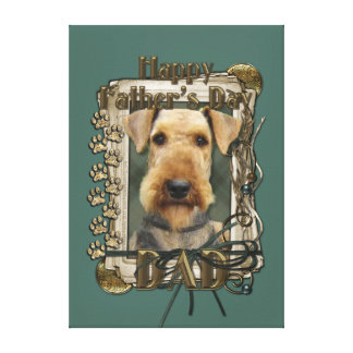 Fathers Day - Stone Paws - Airedale Canvas Print