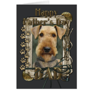 Fathers Day - Stone Paws - Airedale Card