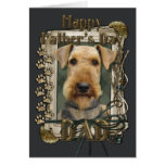 Fathers Day - Stone Paws - Airedale Greeting Card