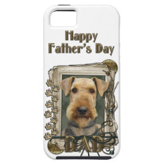 Fathers Day - Stone Paws - Airedale iPhone SE/5/5s Case