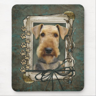Fathers Day - Stone Paws - Airedale Mouse Pad