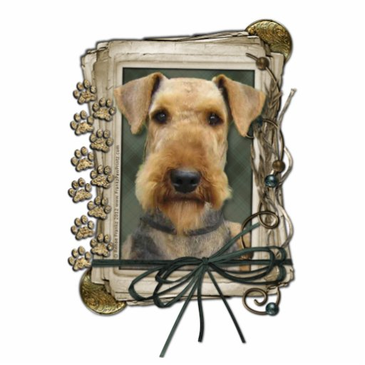 Fathers Day - Stone Paws - Airedale Photo Cutout