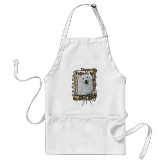 Fathers Day - Stone Paws - American Eskimo - Dad Adult Apron