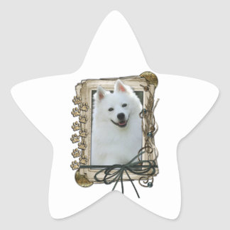 Fathers Day - Stone Paws - American Eskimo Star Stickers
