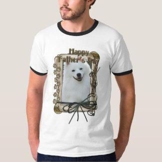 Fathers Day - Stone Paws - American Eskimo T-Shirt