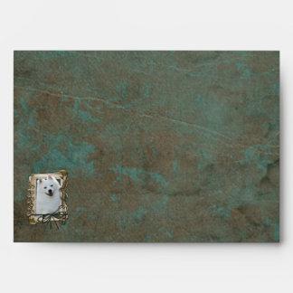 Fathers Day - Stone Paws - Australian Shepherd Envelope