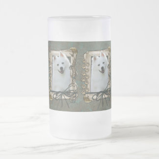 Fathers Day - Stone Paws - Australian Shepherd Frosted Glass Beer Mug