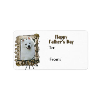 Fathers Day - Stone Paws - Australian Shepherd Label