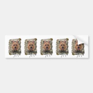 Fathers Day - Stone Paws - Australian Terrier Car Bumper Sticker