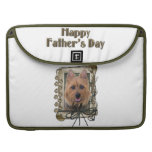Fathers Day - Stone Paws - Australian Terrier Sleeve For MacBook Pro