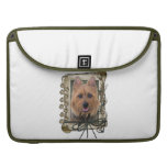 Fathers Day - Stone Paws - Australian Terrier Sleeves For MacBooks