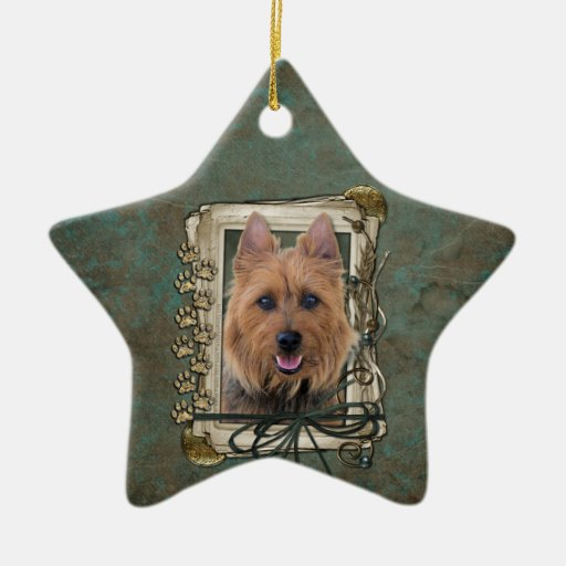 Fathers Day - Stone Paws - Australian Terrier Christmas Ornament