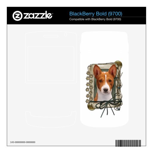 Fathers Day - Stone Paws - Basenji BlackBerry Skins