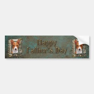 Fathers Day - Stone Paws - Basenji - Dad Car Bumper Sticker