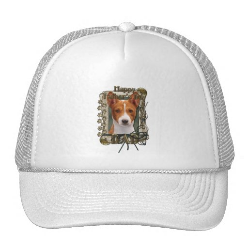 Fathers Day - Stone Paws - Basenji - Dad Trucker Hat