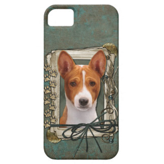 Fathers Day - Stone Paws - Basenji iPhone SE/5/5s Case