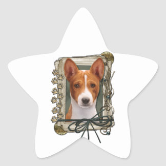 Fathers Day - Stone Paws - Basenji Star Stickers