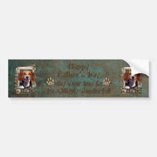Fathers Day - Stone Paws - Beagle Car Bumper Sticker