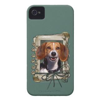 Fathers Day - Stone Paws - Beagle iPhone 4 Case