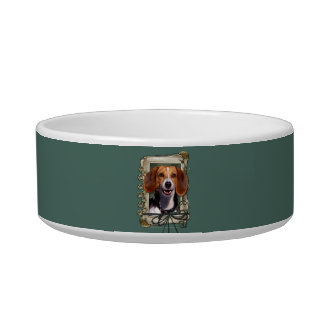Fathers Day - Stone Paws - Beagle Cat Bowl