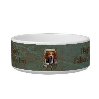 Fathers Day - Stone Paws - Beagle Cat Food Bowls