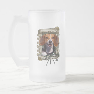 Fathers Day - Stone Paws - Beagle Frosted Glass Beer Mug