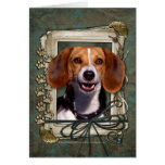 Fathers Day - Stone Paws - Beagle Greeting Card